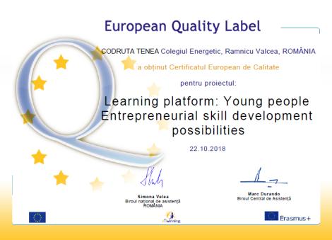 european label learning platform
